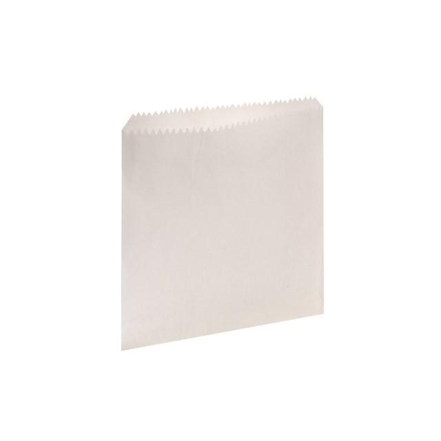 "WHITE PAPER BAGS 8.5"" x  8.5"""
