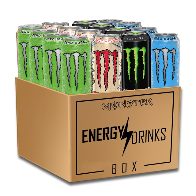 *MONSTER ENERGY DRINK SUGAR & ZERO MONTHLY SUBSCRIPTION BOX CLICK FOR DETAILS