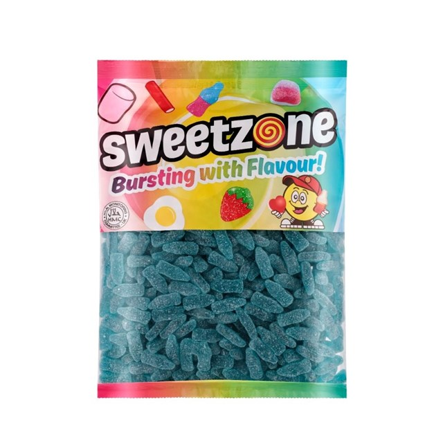 SWEETZONE 1KG BAGS BLUE RASPBERRY BOTTLES