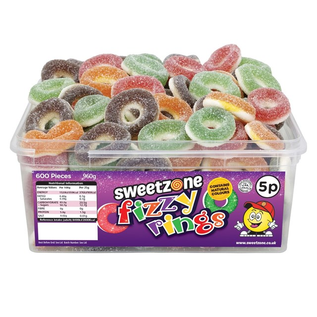 SWEETZONE 5P TUBS Fizzy Rings