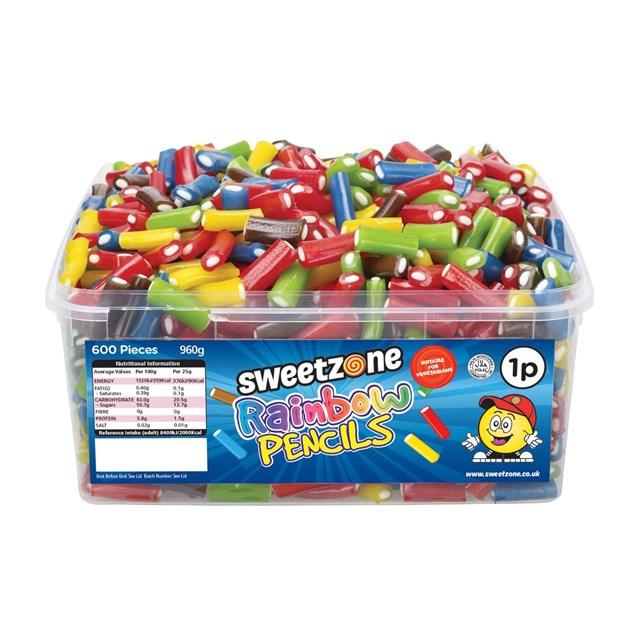 SWEETZONE 1P TUBS Rainbow Pencils