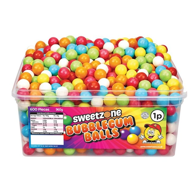 SWEETZONE 1P TUBS Bubblegum Balls