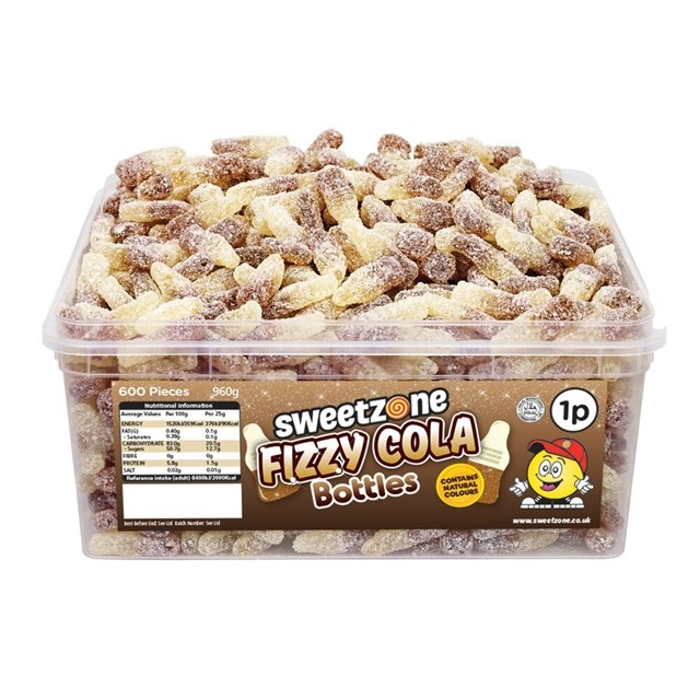 SWEETZONE 1P TUBS Fizzy Cola Bottles