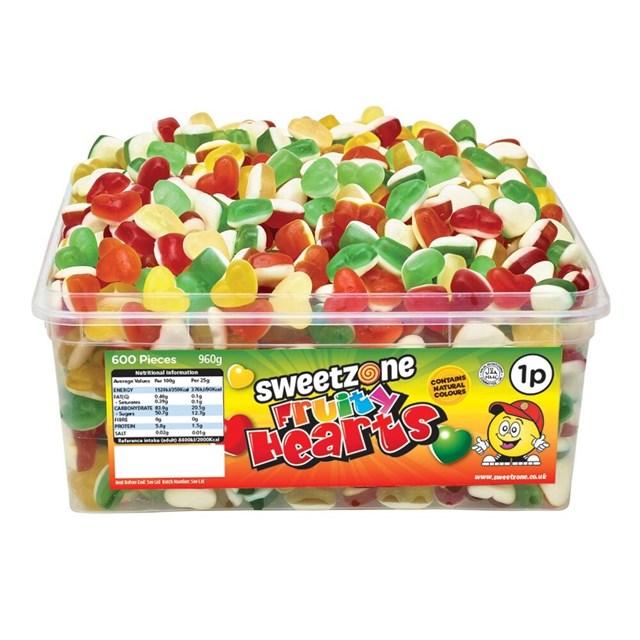SWEETZONE 1p TUBS Fruity Hearts