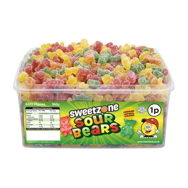 SWEETZONE 1P TUBS Sour Bears