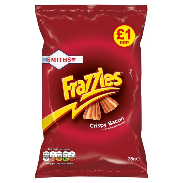 WALKERS £1 FRAZZLES BACON