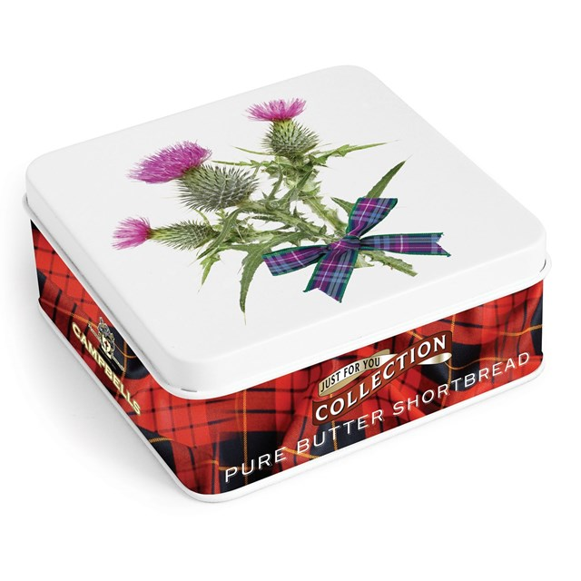 CAMPBELLS ALL BUTTER SHORTBREAD THISTLE TIN 90g