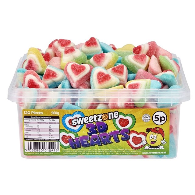 SWEETZONE 5P TUBS 3D Hearts