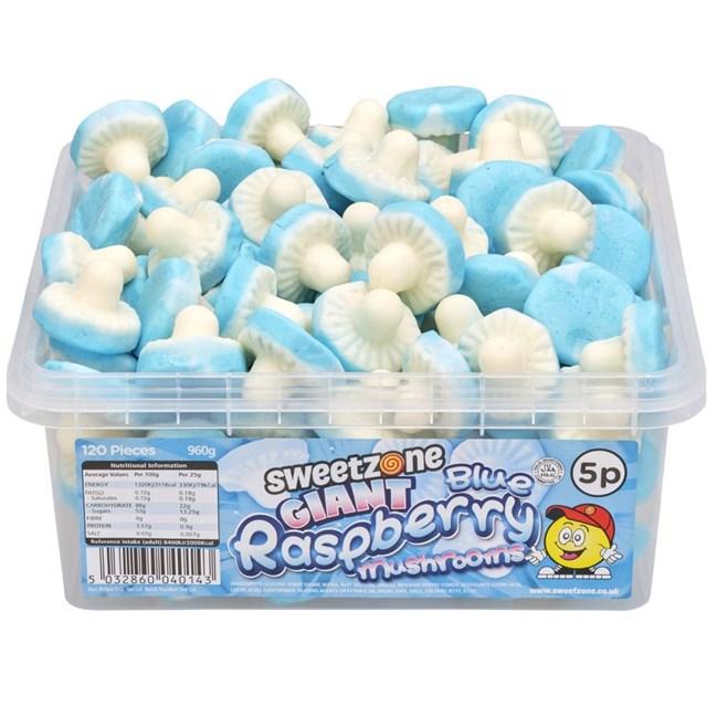 SWEETZONE 5p TUBS BLUE RASPBERRY MUSHROOMS