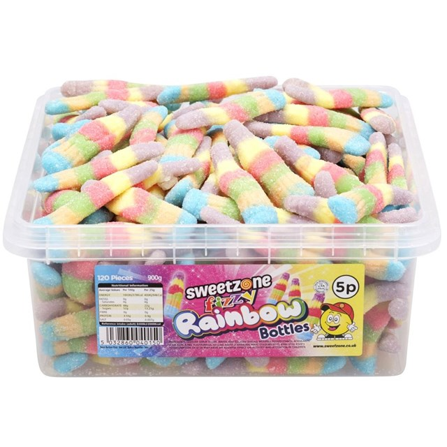 SWEETZONE 5p TUBS Fizzy Rainbow Bottles