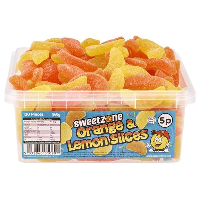 SWEETZONE 5p TUBS Orange & Lemon Slices