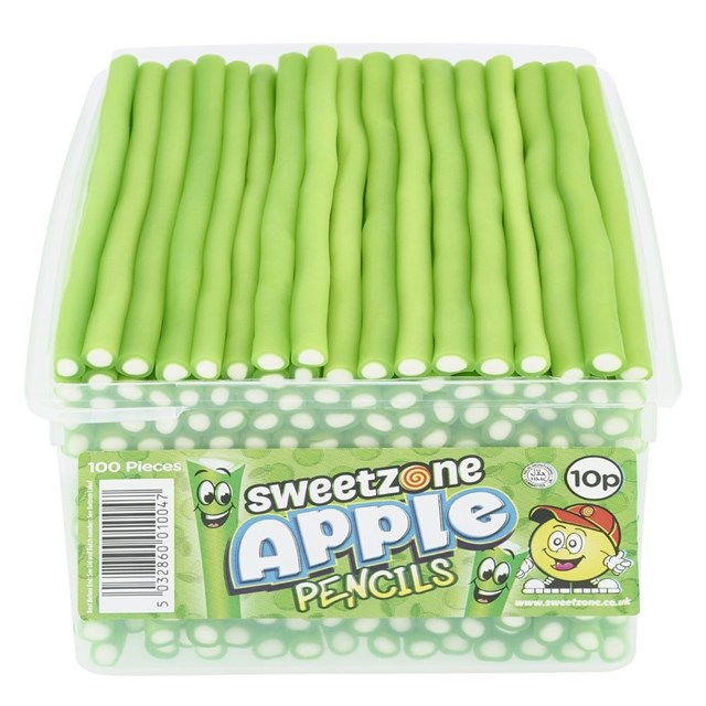 SWEETZONE TUBS PENCILS APPLE 10p