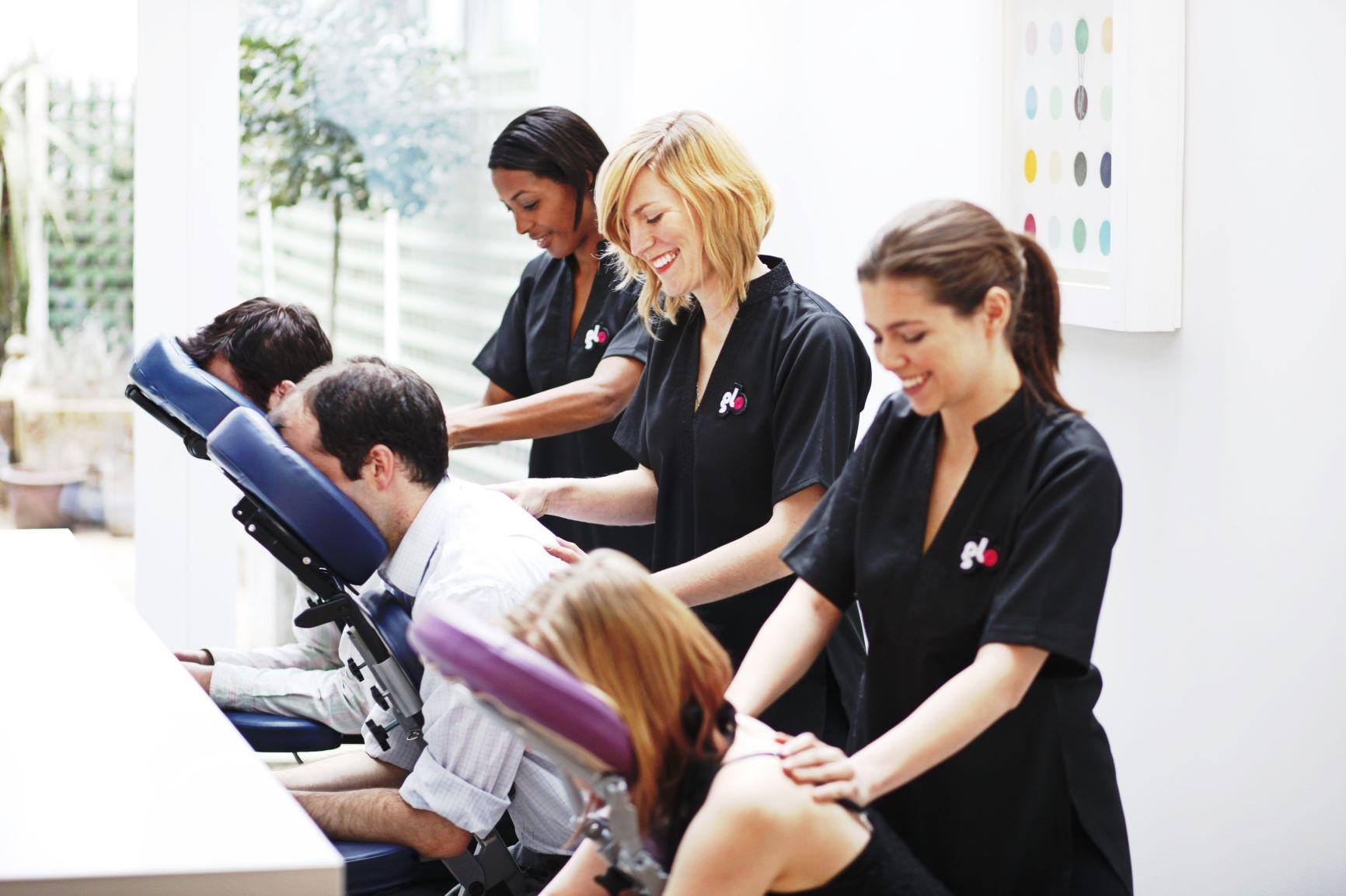 Glo Pamper Event massage