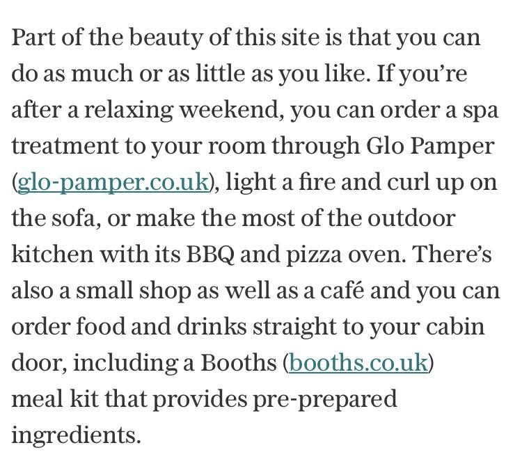 The Telegraph glo pamper spa