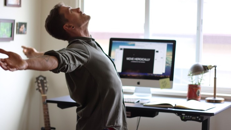 Office desk stretches