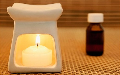 Oil burner and frankincense to relax
