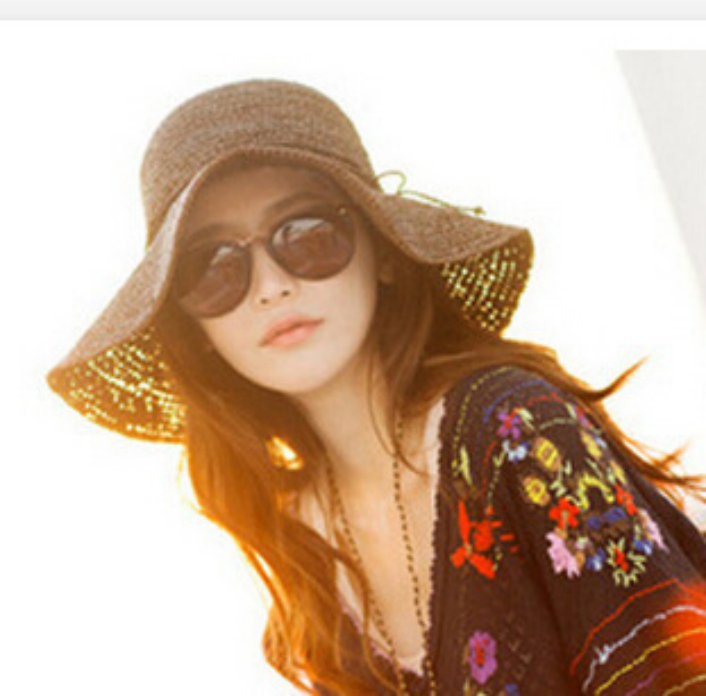 Protect your face and hair with wide brimmed hat