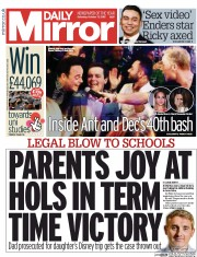 Daily Mirror newspaper Oct 2015