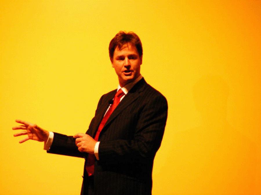 Nick Clegg speaking Dutch, Spanish and German