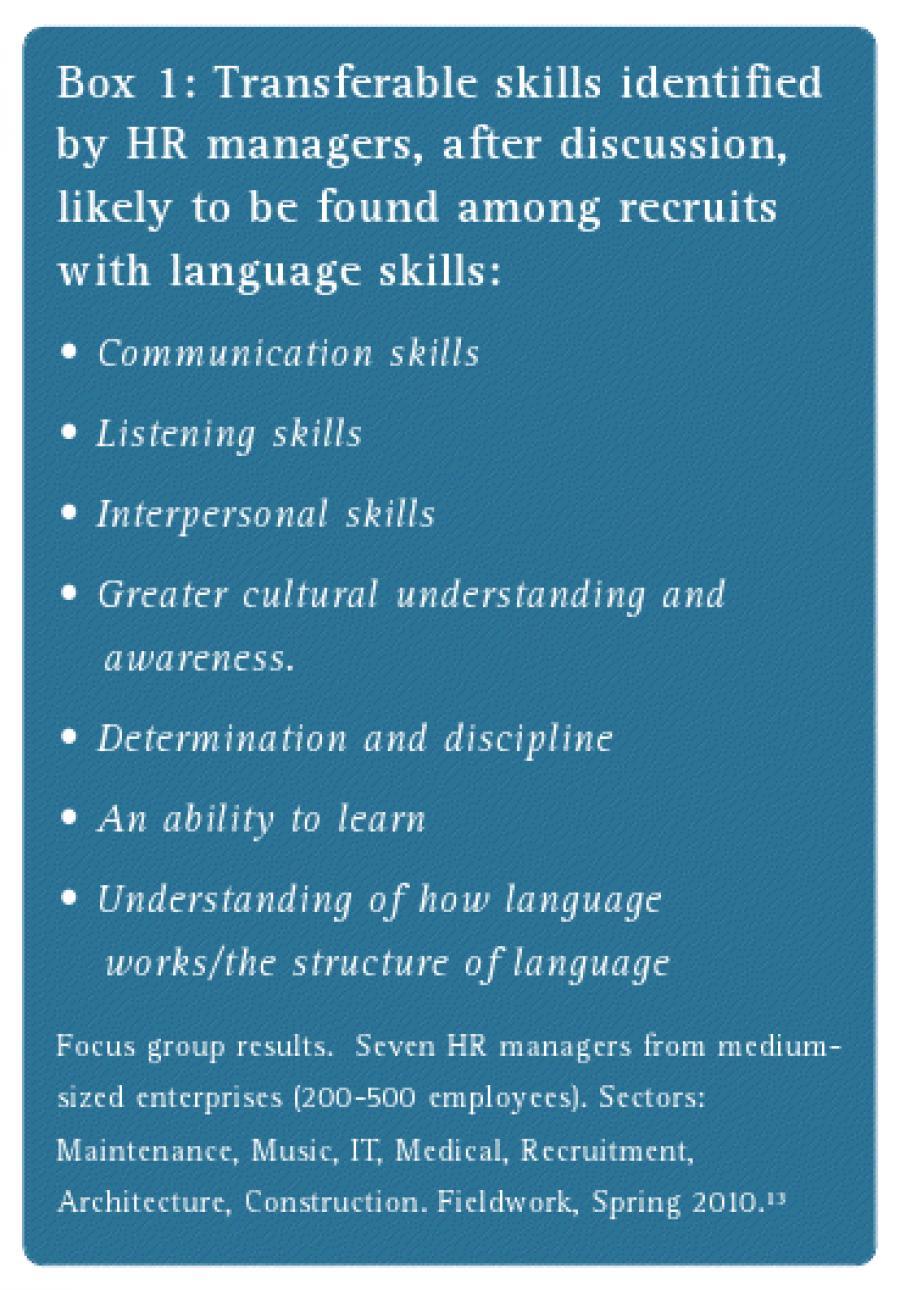 Career ammunition for language graduates