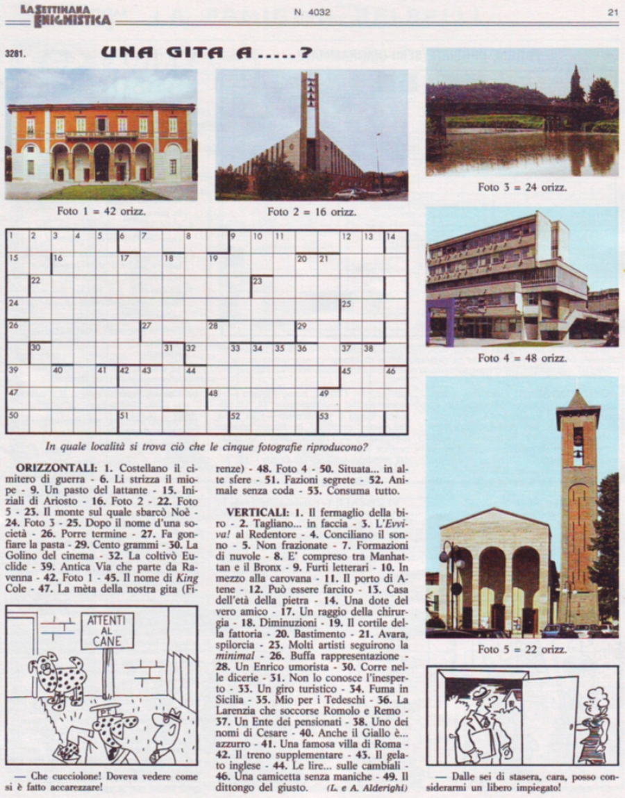 Italian word searches and crosswords