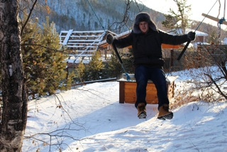 Alex on a swing