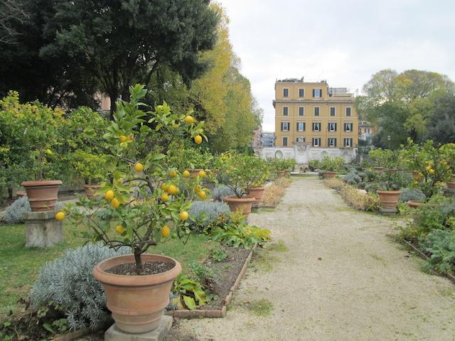 A garden in Villa Borghese