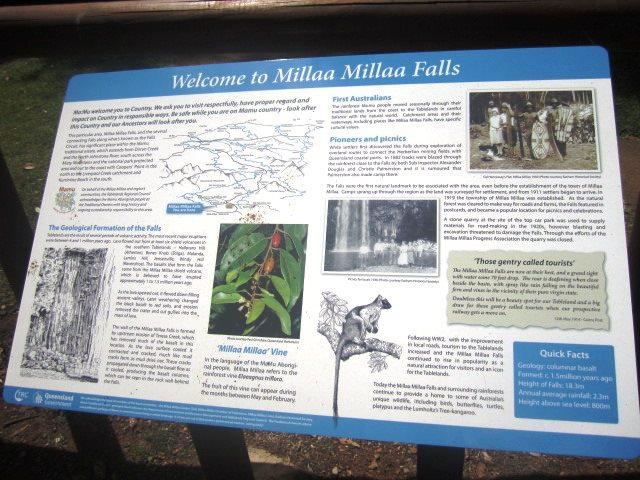 Millaa Millaa Falls Sign