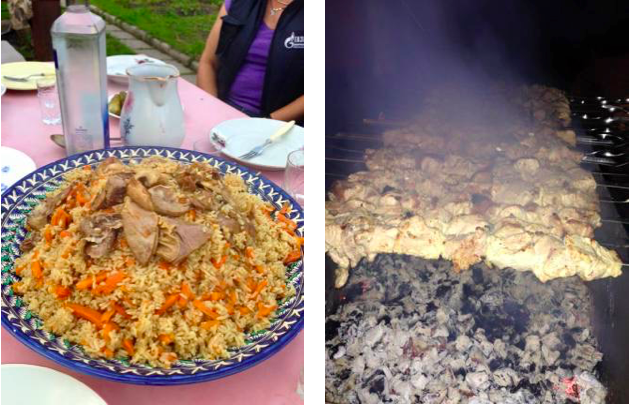 shashlik and plov