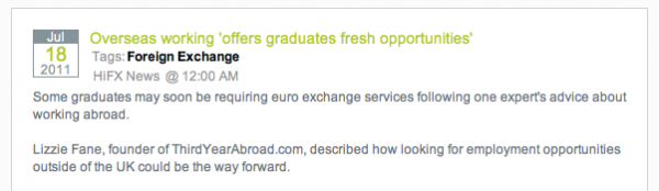 Opportunities Abroad