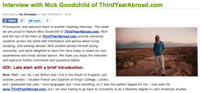 ThirdYearAbroad on GoOverseas