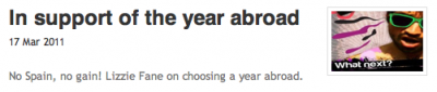 ThirdYearAbroad.com on StudentMediaWire