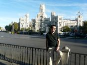 Outside the Bank of Spain in Madrid by Cesar Pics