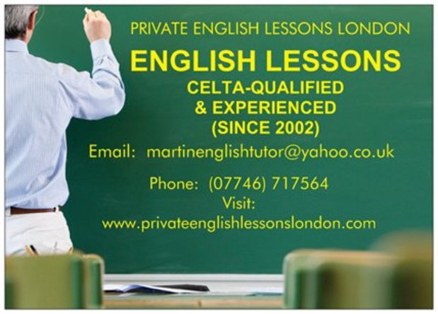 PRIVATE ENGLISH LESSONS IN LONDON