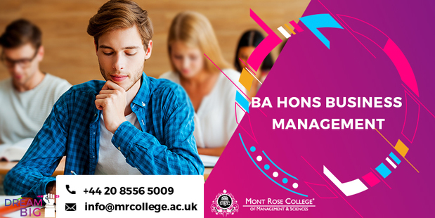 What is the scope of BA Hons business management
