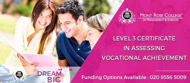 Level 3 certificate in assessing vocational achievement