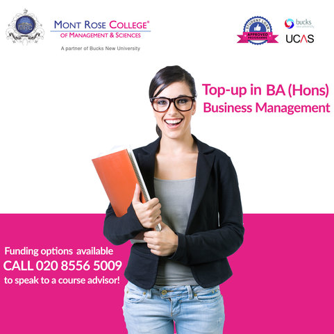 Get the top up in business management course in London