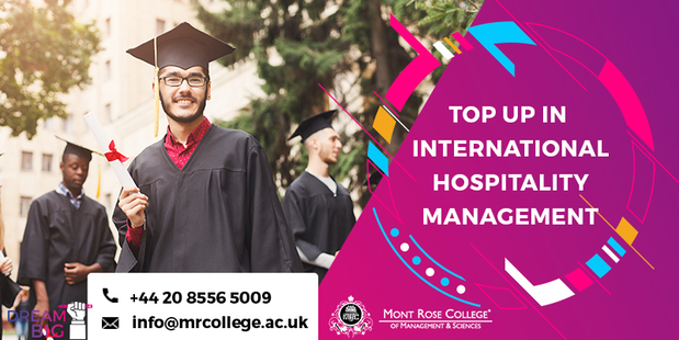 Find the top up in international hospitality management