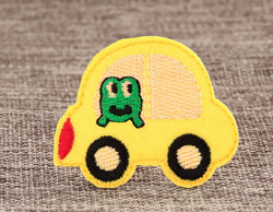 Yellow Bus Embroidered Patches