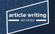 Thumb article writing services