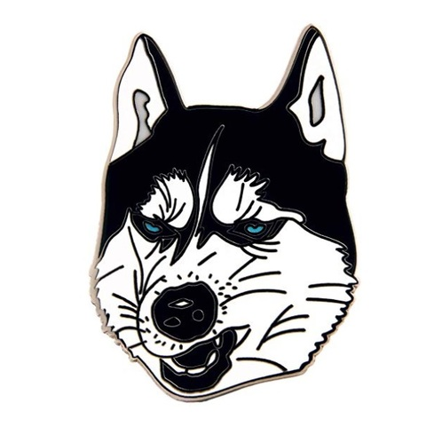 GS-JJ Husky Dog Custom Enamel Pins