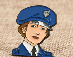 Policeman Custom Lapel Pins No Minimum