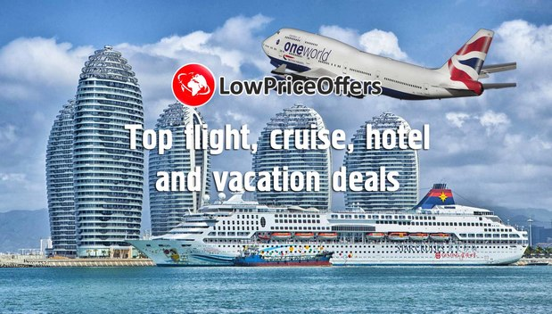 Low Price Deals on flights, hotels, cruises, holidays!