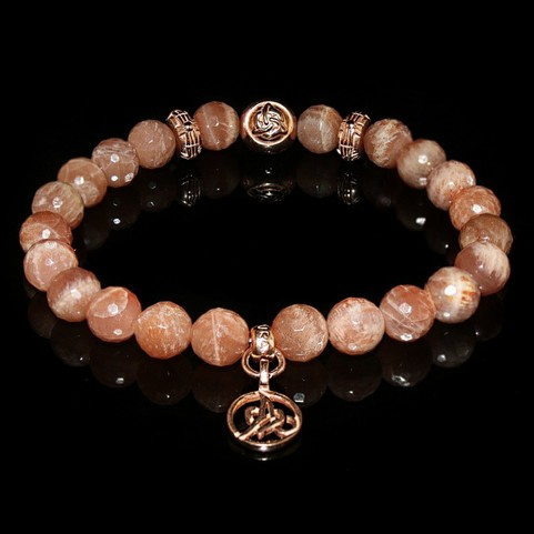 Peach Moonstone Luxury Bracelet