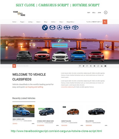 Sixt Clone | Cargurus Script from Travel Booking Script