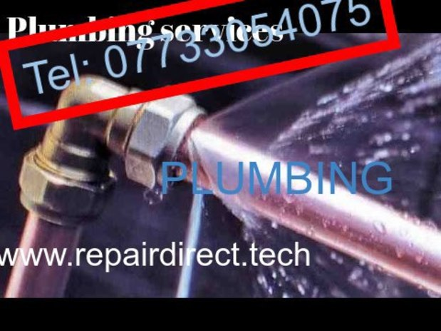 Professional plumbing with warranty