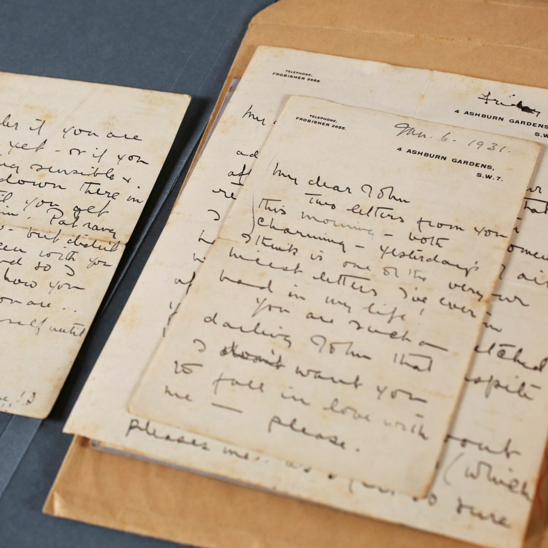 A selection of Audrey Mildmay and John Christie's letters. Photo: Sam Stephenson