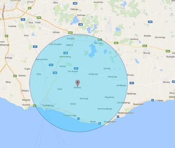 Bli synlig på Google i Trelleborg med omnejd