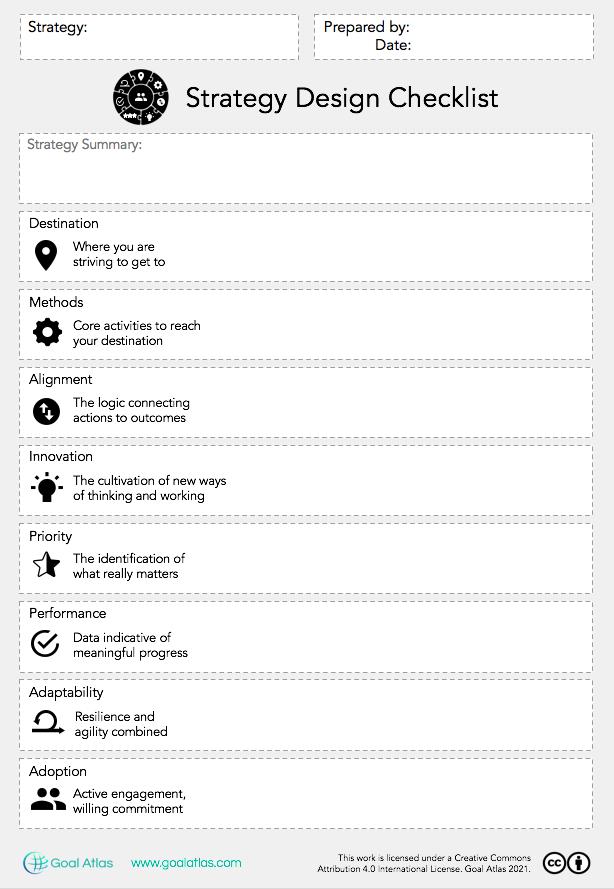 Goal Atlas - Strategy Design Checklist (Blank)