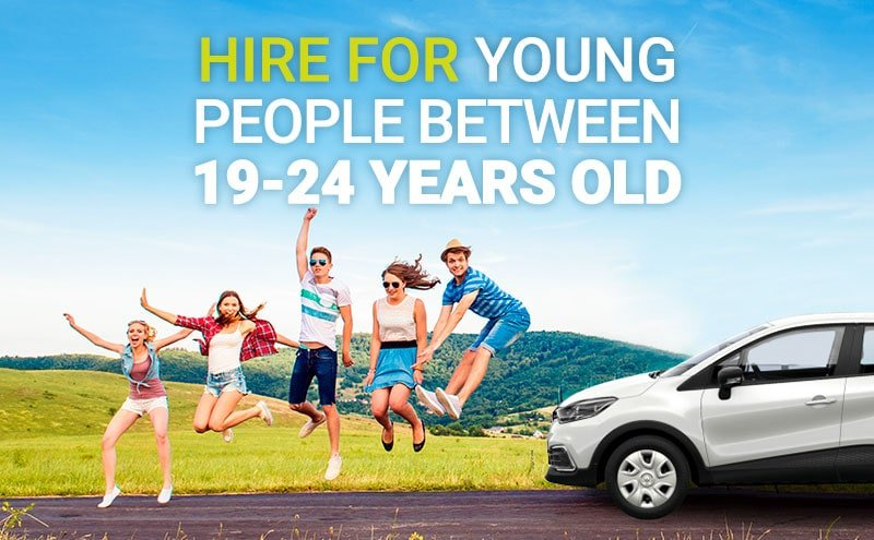 car rental 20 years old